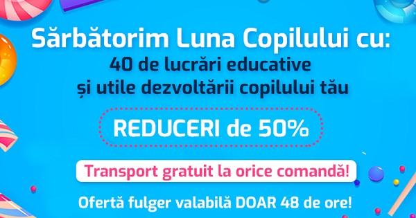 Oferta-fulger de Ziua Copilului: carti cu 50% REDUCERE si transport GRATUIT, cu bucurie pentru cei mici si cei mari
