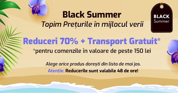 A inceput Black Summer 2021 pentru parinti si elevi: Reduceri uriase si transport Gratuit! Atentie, stoc LIMITAT