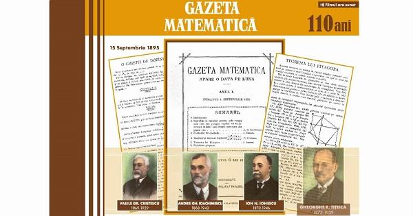 Gazeta Matematica - unul dintre materialele auxiliare interzise in scoli de Ministerul Invatamantului
