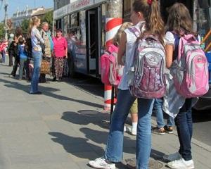 Reducere mai mare de 50% pentru elevi la transportul in comun