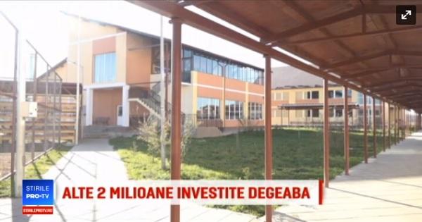 Situatie absurda: campus scolar, construit cu 2 milioane de euro, zace gol