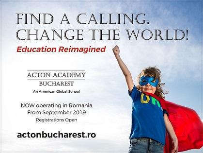 Acton Academy, o scoala americana premiata pentru inovatie in educatie, vine in Romania
