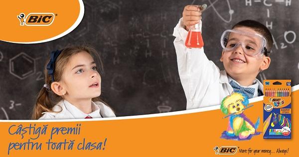 Concurs cu premii de la BIC pentru Invatatori si Elevi: castiga 1.000 de euro pentru clasa ta