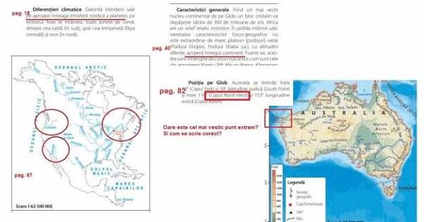 Manual de Geografie plin de greseli. Un profesor a constatat erori grave la manualul deja aprobat de minister