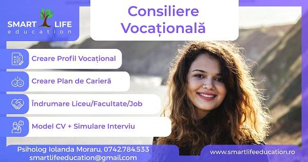Consiliere Vocationala – Alege-ti LICEUL/FACULTATEA/JOB-ul correct