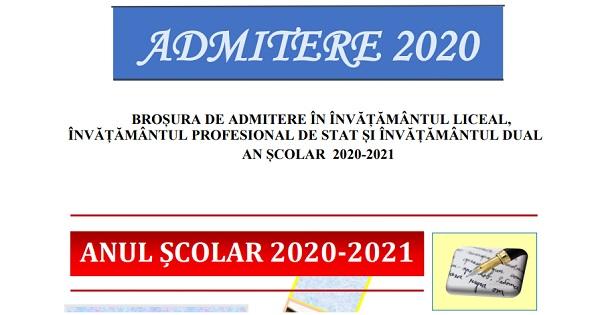 Admiterea la liceu - BROSURA cu numarul de locuri din Bucuresti. Mediile de admitere + Model de declaratie