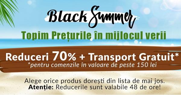 Ai vazut promotia Black Summer? Ai 70% REDUCERE la culegeri pentru copil si la carti pentru tine