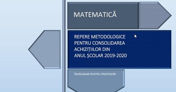 A aparut Ghidul remedial de la Ministerul Educatiei pentru Matematica - clasele V-XII