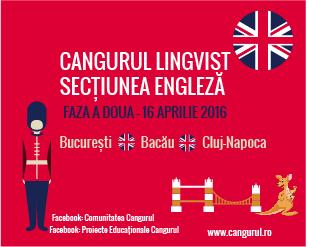 351 de elevi au fost selectati pentru faza a doua a Proiectului Educational Cangurul Lingvist, Sectiunea Engleza