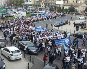 Dascalii au organizat un protest urias in Capitala. Cum raspund guvernantii?