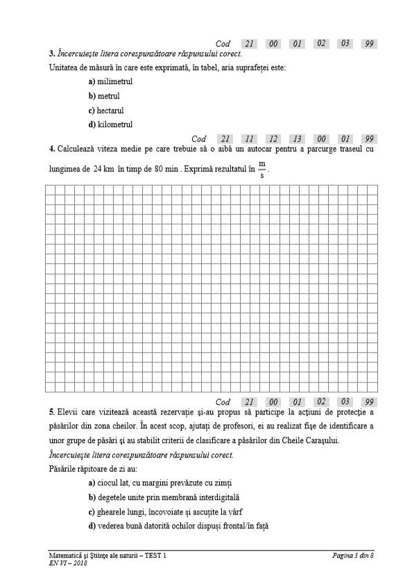 Subiecte Evaluarea Nationala 2018 Clasa A VI A La Matematica
