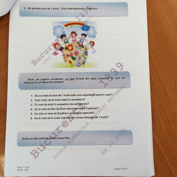 subicte limba romana evaluare clasa 2