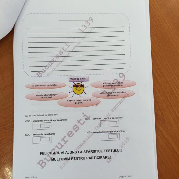 subiecte limba romana evaluare clasa 2